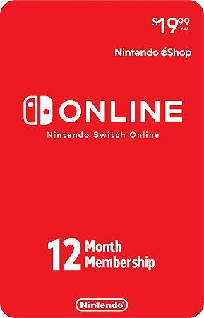 Nintendo Switch Online - Assinatura 12 meses USA