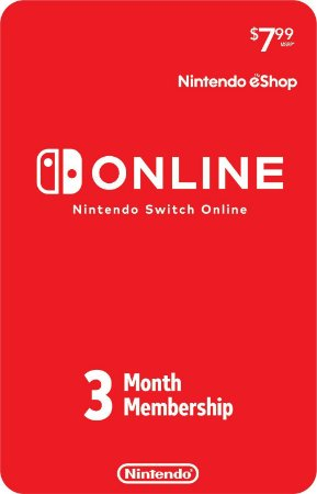 Nintendo Switch Online - Assinatura 3 meses USA