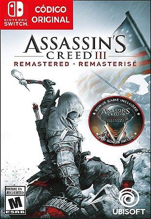 Assassins Creed III: Remastered - Nintendo Switch Digital