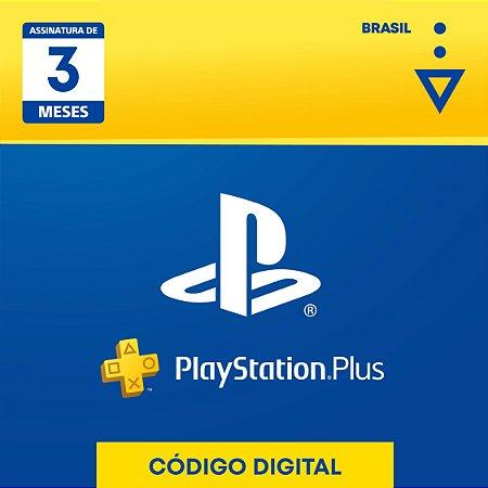 Playstation - Cartão Digital PS Plus 3 meses Brasil