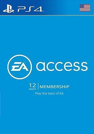 EA Access PS4 - Cartão Assinatura de 12 Meses
