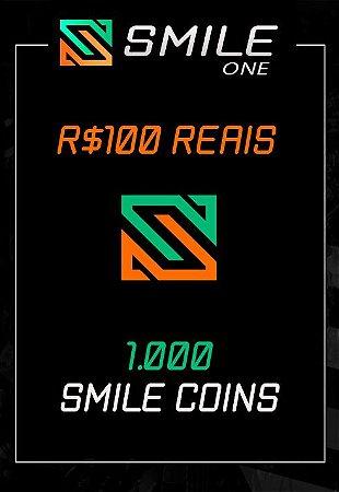 Smile One - 1000 Smile Coins - Cartão R$ 100
