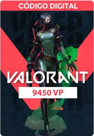 Valorant - VP Card - RIOT GAMES 9450 VP