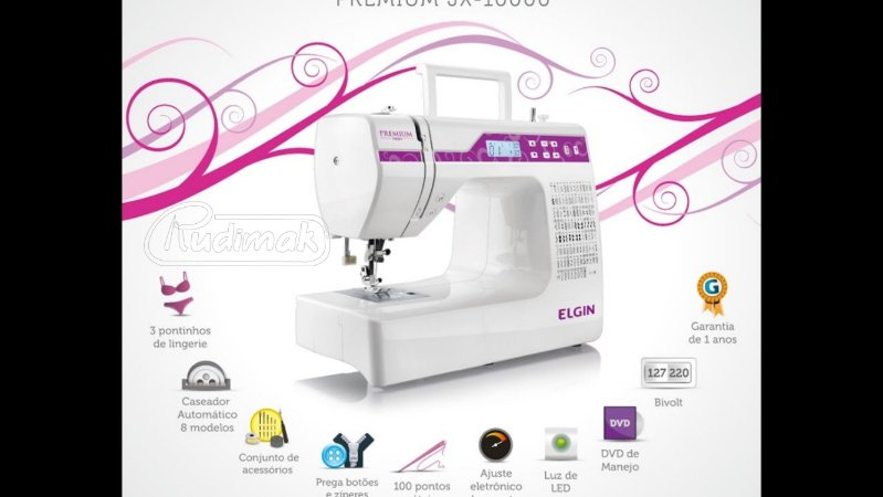Maquina De Costura ELGIN PREMIUM JX-10000- 220v  Rudimak