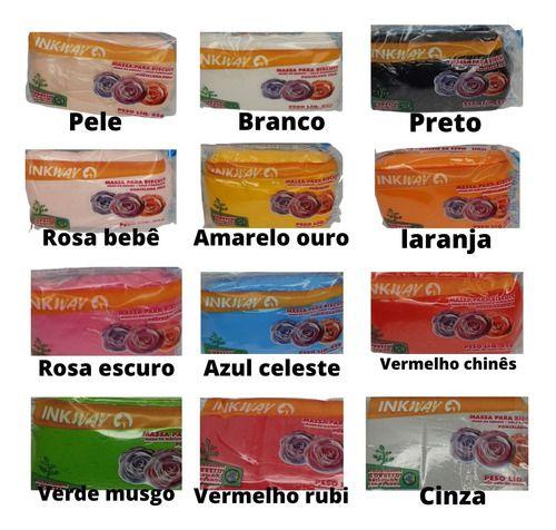 Massa Biscuit 900g Cores Sortidas Ink Way Artesanato