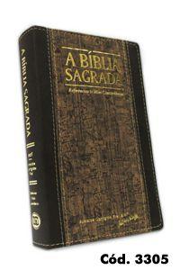 Bíblia Grande RECM (Referências e Mini Concordância) Capa Marrom Cortiça