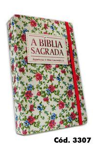 Bíblia Grande RECM (Referências e Mini Concordância) Capa Florida Rosa