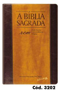 Bíblia Grande RCM (Referências, Concordância e Mapas) Chocolate/Havana - Letra Gigante