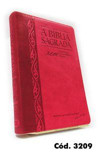 Bíblia Grande RCM (Referências, Concordância e Mapas) Morango/Cereja - Letra Gigante