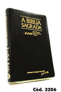 Bíblia Grande RCM (Referências, Concordância e Mapas) Preta - Letra Gigante