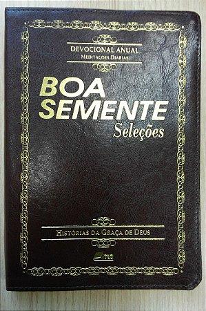 Boa Semente seleções - Histórias da Graça de Deus, capa luxo (corina, beira dourada)