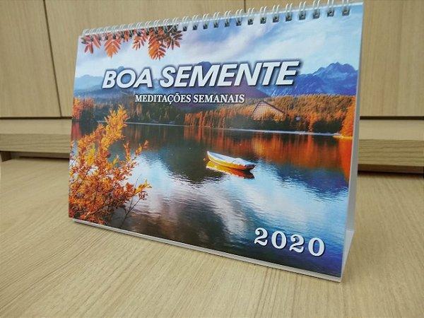 BOA SEMENTE SEMANAL, display; para 10 ou mais use código BSS10 e a partir de 100 use código BSS100