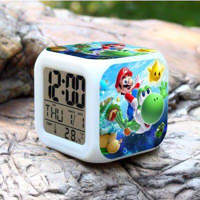 Relógio Despertador Super Mario