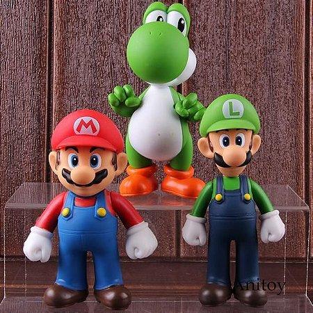 Conjunto Mario Luigi e Yoshi 13cm
