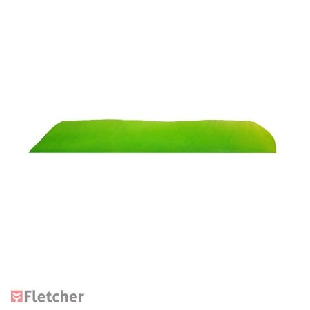 Pena de Peru Inteira Verde Fluorescente LW (Full Length Feather)