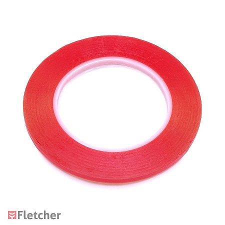 Fita adesiva dupla face para colagem de penas - 50 metros - Fletching Tape