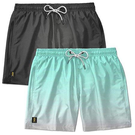 Kit 2 Shorts Masculino Bermuda Praia Ajustável Mauricinho Jr