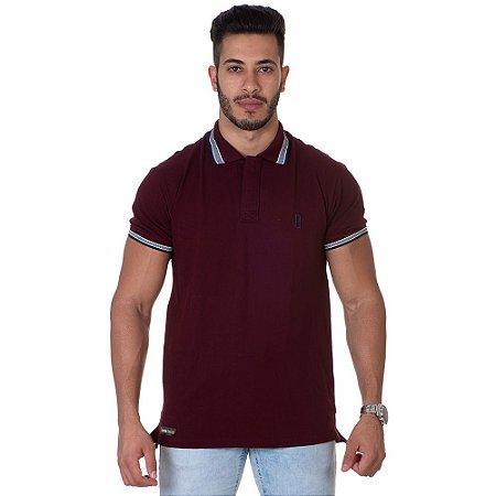Camiseta Gola Polo Lucas Lunny Vinho