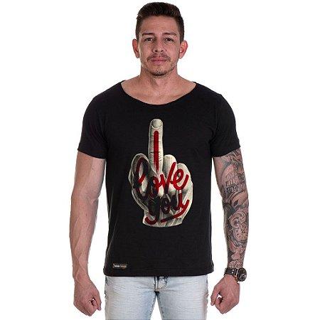 Camisa Camiseta Personalizada Dedo Love