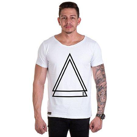 Camisa Camiseta Personalizada Triangulo Duplo