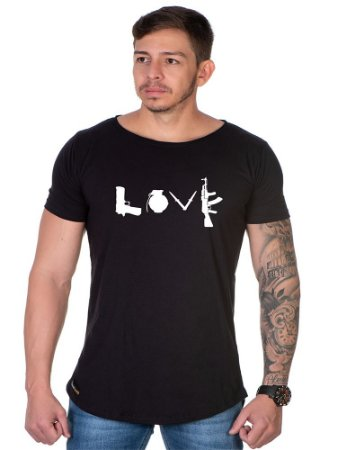 Camiseta Lucas Lunny Oversized Longline Love