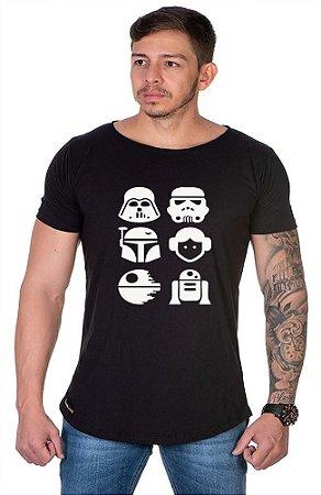 Camiseta Lucas Lunny Oversized Longline Estampada