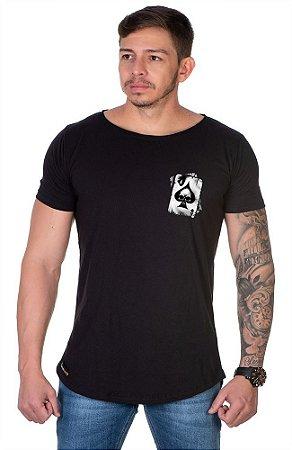 Camiseta Lucas Lunny Oversized Longline Cartas Lateral