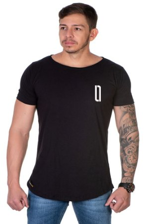 Camiseta Lucas Lunny Oversized Longline Logo Lateral