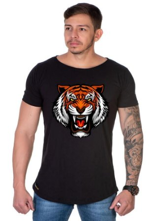 Camiseta Lucas Lunny Oversized Longline Tigre