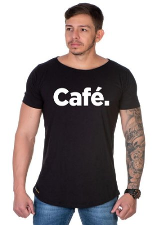 Camiseta Lucas Lunny Oversized Longline Cafe