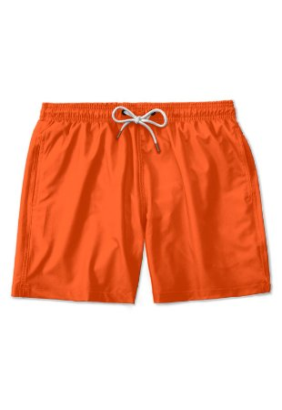 Short Praia Orange Sunset Casual Masculino