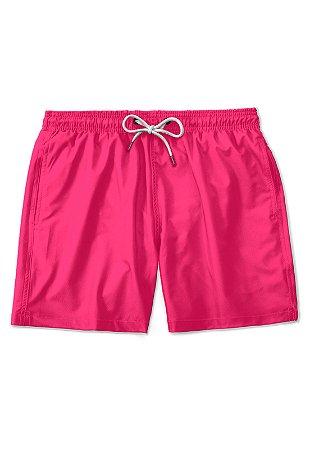 Short Praia Vibrant Pink Casual Basico Masculino
