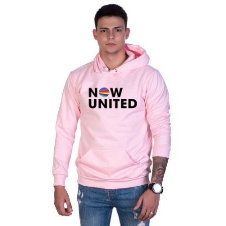 Moletom Basico Estampado Now United Canguru Unissex Lucas Lunny Capuz