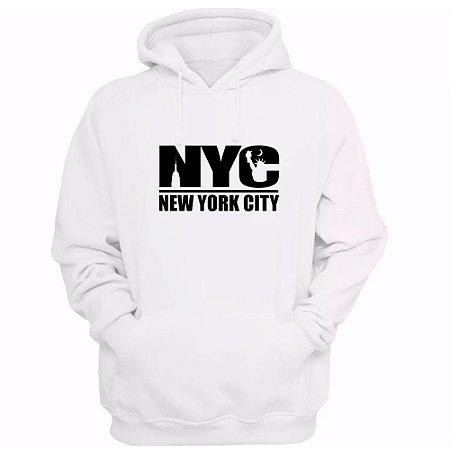 Moletom Casual Estampado New York City Unissex Lucas Lunny Basico Capuz