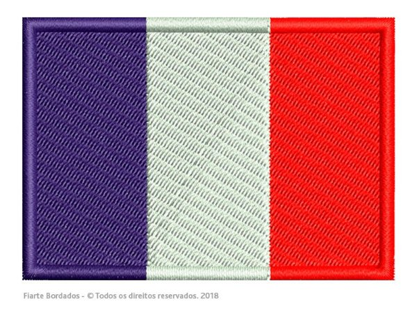 Favoritos Bandeira da França Termocolante Bordada - Patch Bandeira da França  ZZ31