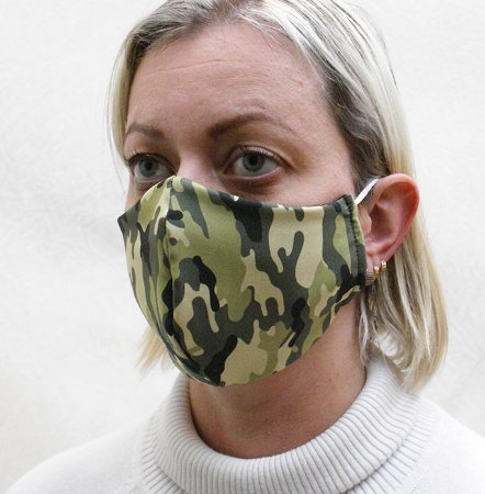 Máscara Camuflada com Elásticos de Orelha