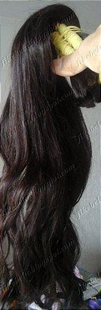 Cabelo Ondulado Castanho 55 cm (25gr)