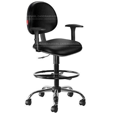 Cadeira Caixa Alta Portaria Recepção Com Braços Várias Cores Cb23