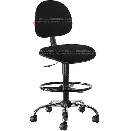 Cadeira Caixa Alta Portaria Recepção Tecido Várias Cores Cb31
