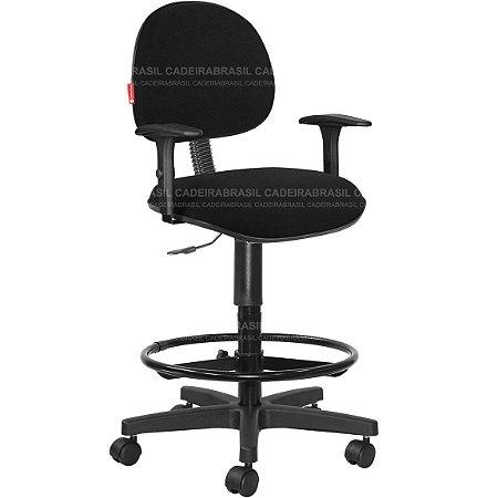 Cadeira Caixa Alta Portaria Recepção Tecido Com Braços Varias Cores Cb35
