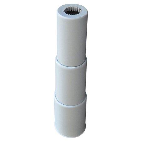 Capa Telecópica Para Coluna E Pistão Á Gás Em Nylon 3 Estágios Cinza