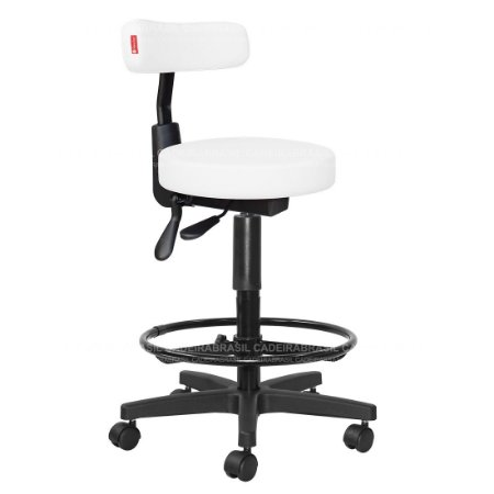 Cadeira Mocho Alto Ergonômico Estética, Fisioterapia, Odontologia Slim Cadeira Brasil CB 1544