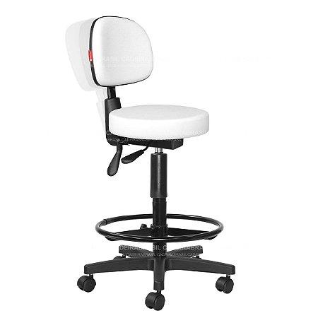 Cadeira Mocho Alto Ergonômico Estética, Fisioterapia, Odontologia Secretária Cadeira Brasil CB 1634
