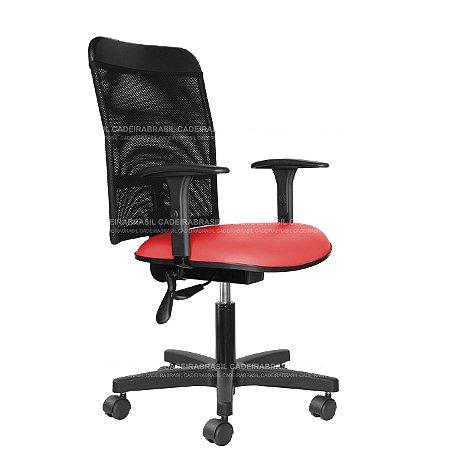 Cadeira Escritório Ergonômica Executiva - Com Braços - Base Aço Capa - New Tela CB 2016