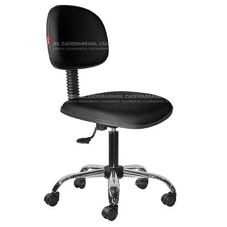 Cadeira Secretária Giratória - Base Cromada - CB 1884