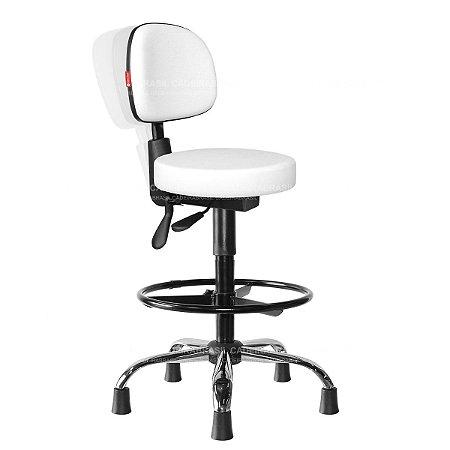 Cadeira Mocho Alto Ergonômico Estética, Fisioterapia, Odontologia Secretária Cadeira Brasil CB 1631
