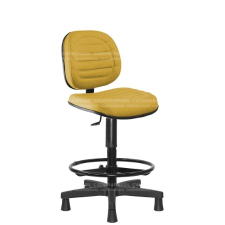 Cadeira Caixa Executiva Giratória com Base Aço Capa e Apoio de Pés Lacerta CB 706