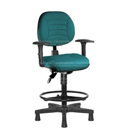 Cadeira Caixa Ergonômica Executiva com Braços Reguláveis e Base Aço Capa Firenze CB 507