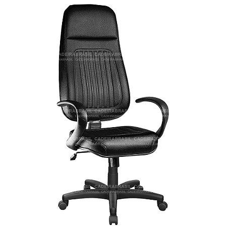 Cadeira Escritório Presidente Extra Giratória com Braços e Base Aço Capa Milão CB 300