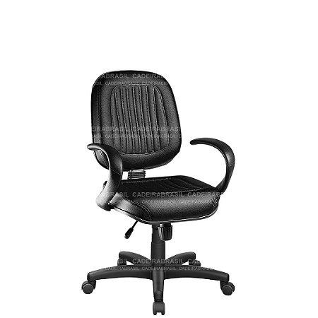 Cadeira Escritório Diretor Giratória com Braços e Base Aço Capa Milão CB 302